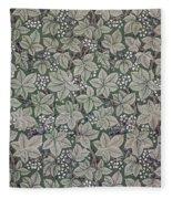 Bramble Wallpaper Design Fleece Blanket