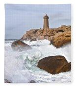 Breaking Of Waves Fleece Blanket
