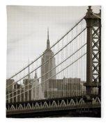 Bridge From The Bridge Fleece Blanket