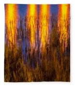 Bridge Of Lions Reflections St Augustine Florida Painted    Fleece Blanket