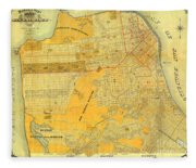 Britton And Reys Guide Map Of The City Of San Francisco. 1887. Fleece Blanket