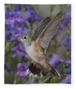 Broad-tailed Hummingbird Fleece Blanket