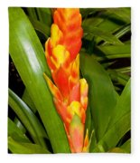 Bromeliad Flower Fleece Blanket
