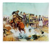 Bronc For Breakfast Fleece Blanket