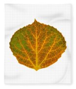 Brown Green Orange And Yellow Aspen Leaf 1 Fleece Blanket