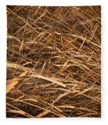 Brown Reeds Fleece Blanket