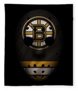 Bruins Jersey Mask Fleece Blanket