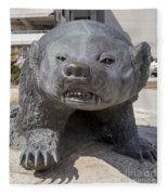 Badger Statue 4 At Uw Madison Fleece Blanket
