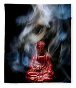 Buddha In Smoke Fleece Blanket