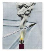 Bullet Shot Through Candle Flame Fleece Blanket