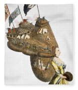 Bunker Hill: Cartoon, 1776 Fleece Blanket