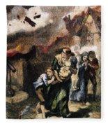 Burning Of Norfolk, 1776 Fleece Blanket