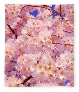Bursting With Blossoms Fleece Blanket