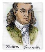 Button Gwinnett (1735-1777) Fleece Blanket