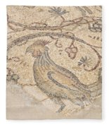 Byzantine Mosaic Depicting Animals And Hunting Scenes. Fleece Blanket