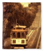 Cable Car In San Francisco Fleece Blanket