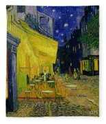 Cafe Terrace Arles Fleece Blanket