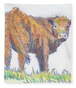 Calf Fleece Blanket