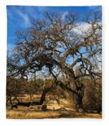 California White Oak Fleece Blanket