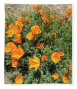 Californian Poppy Eschscholzia Fleece Blanket