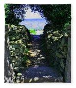 Cana Island Walkway Wi Fleece Blanket