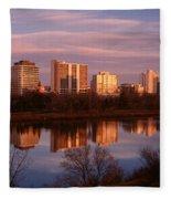 Canada, Saskatchewan, Saskatoon Fleece Blanket
