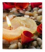 Candle And Petals Fleece Blanket