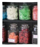 Candy In Container On Store Shelf Fleece Blanket
