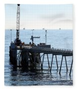 Carpinteria Pier Fleece Blanket