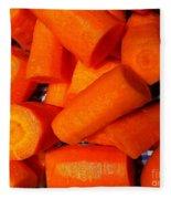 Carrots Ready To Cook Fleece Blanket