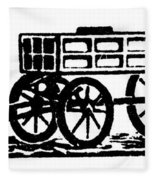 Cart, 19th Century Fleece Blanket