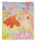 Cartoon Animals Fleece Blanket