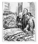 Cartoon: Big Three, 1945 Fleece Blanket