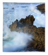 Carved By The Sea Fleece Blanket