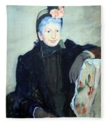 Cassatt's Portrait Of An Elderly Lady Fleece Blanket