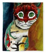 Cat Around Corner Fleece Blanket