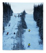 Cat Skiing At Fortress Mountain Fleece Blanket