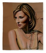 Cate Blanchett Painting  Fleece Blanket