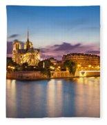 Cathedral Notre Dame Fleece Blanket