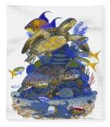 Cayman Turtles Fleece Blanket