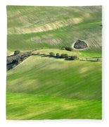 Cereal Fields From The Air Fleece Blanket