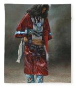Ceremonial Red Fleece Blanket