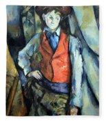 Cezanne's Boy In Red Waistcoat Fleece Blanket