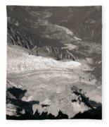 Chamonix From Above Fleece Blanket