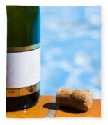 Champagne Bottle And Cork Fleece Blanket