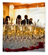 Champagne Glasses At The Party Fleece Blanket