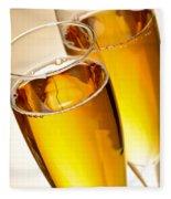 Champagne In Glasses Fleece Blanket