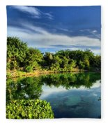 Chankanaab Lagoon Reflections Fleece Blanket