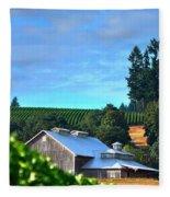 Chardonnay Vineyard 17954 Fleece Blanket