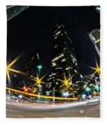 Charlotte Nc Usa - Nightlife Around Charlotte Fleece Blanket